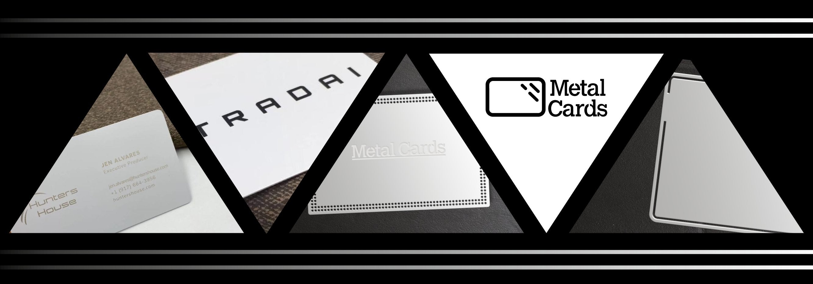 Matte White Metal Business Cards