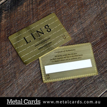 Load image into Gallery viewer, Brushed Gold Plated Metal Card