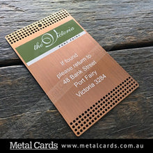 Load image into Gallery viewer, Brushed Antique Copper Metal Card