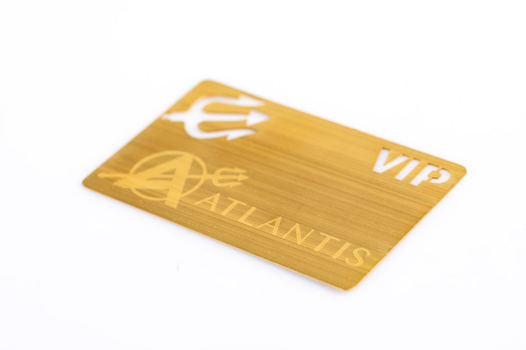 Brushed Gold Plated Metal Card