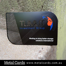 Load image into Gallery viewer, Matte Black Metal Card