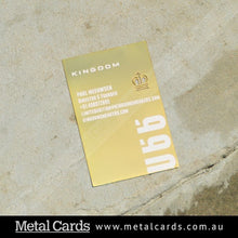 Load image into Gallery viewer, Mirror Gold Plated Metal Card