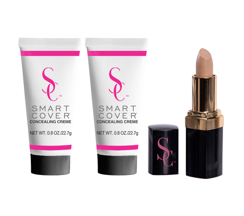 Smart Cover Starter Kit - Light/Medium - (1) Light Beige Concealing Crème, (1) Medium Beige Concealing Crème