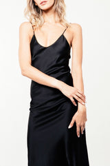Darya Slip Dress - Black