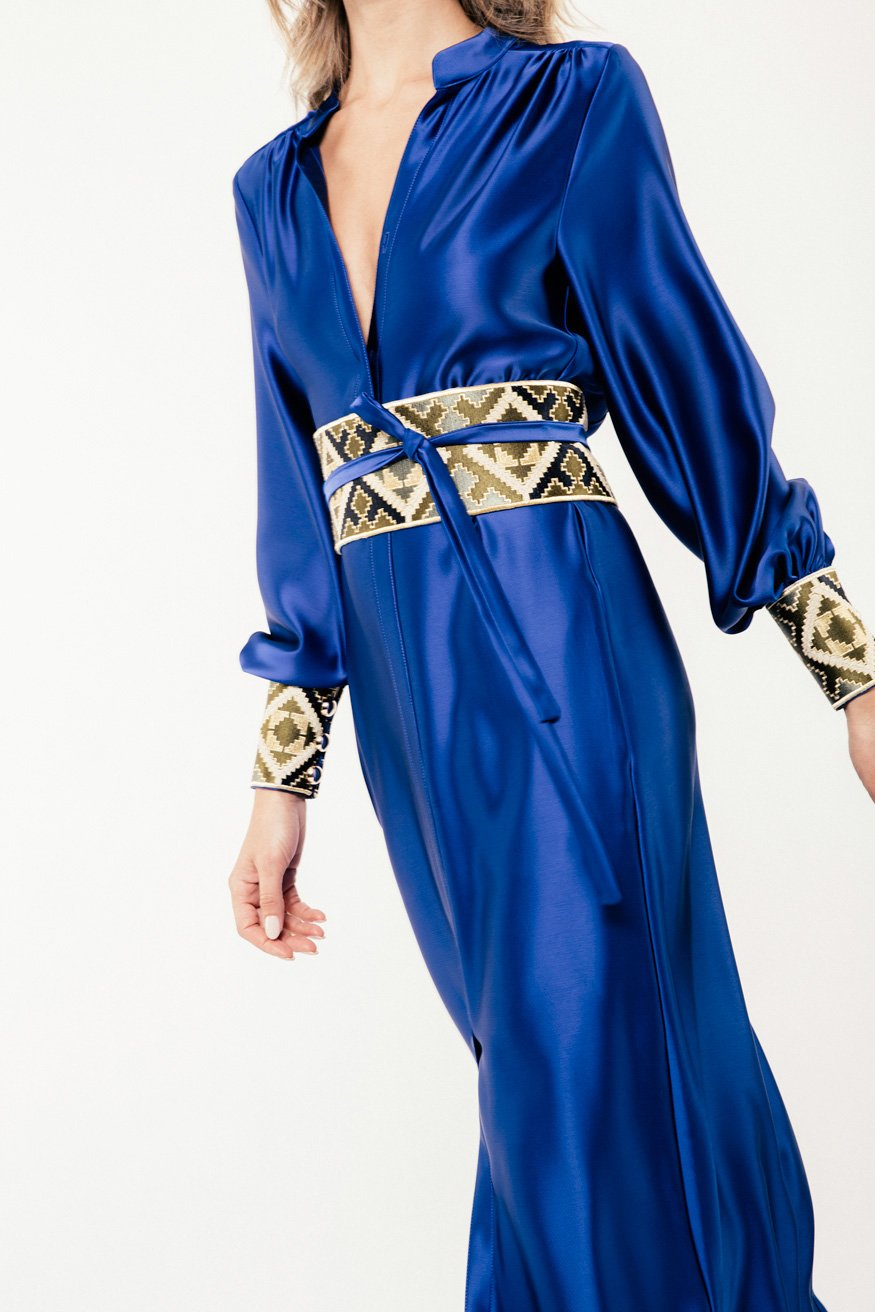 Isfahan Dress - Cobalt