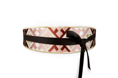 Balouch Belt - Pink, Brick & White