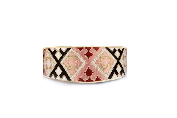 Balouch Belt - Pink, Black & Brick