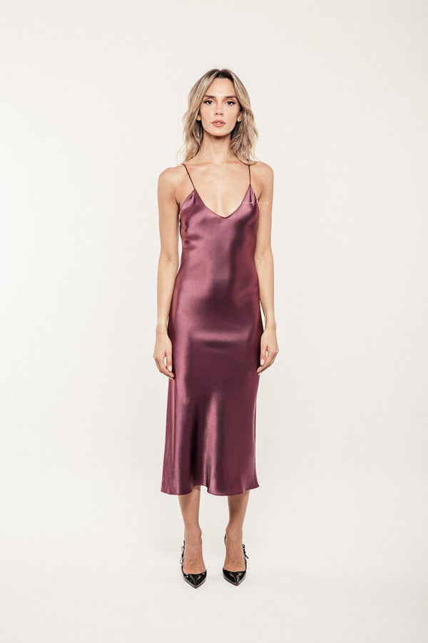 Darya Slip Dress - Puce