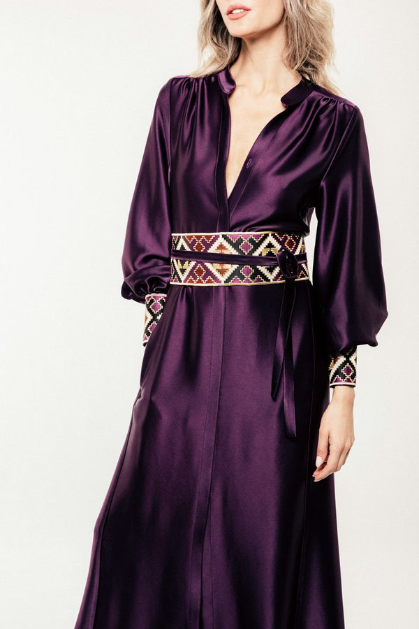 Isfahan Dress - Aubergine