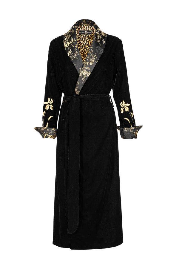 Mahtab Robe - Black CHINOISERIE Rosewater House