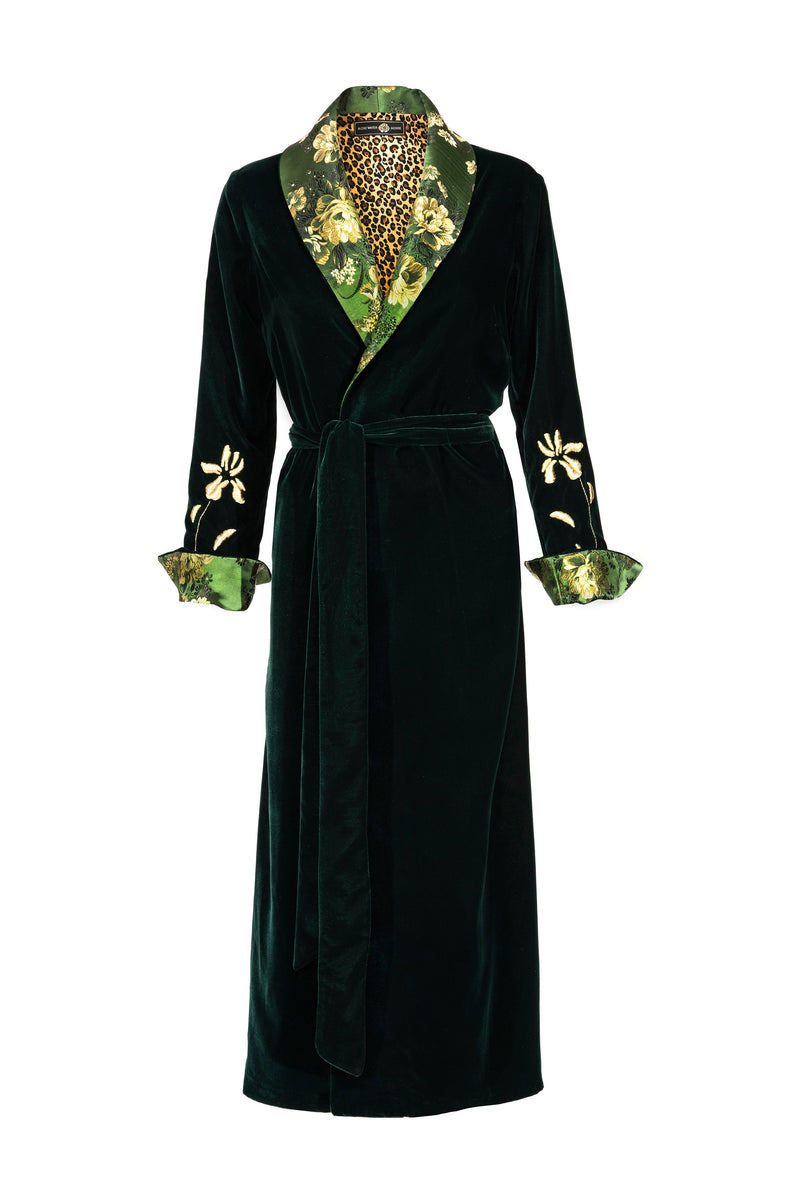 Mahtab Robe - GREEN CHINOISERIE Rosewater House