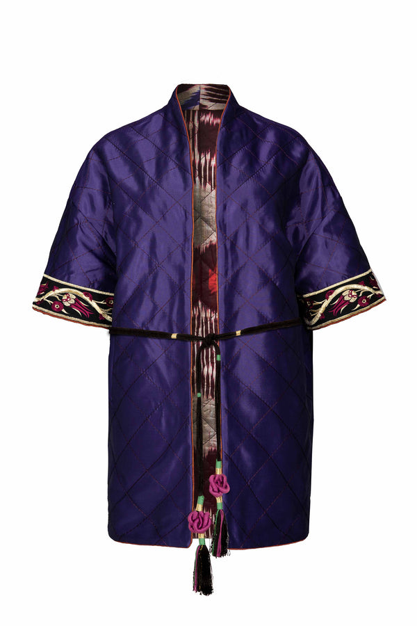Ikat Reversible Jacket - Purple & Purple Jacket RoseWaterHouse
