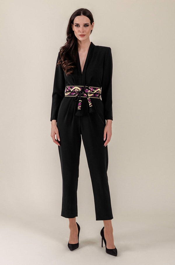 Zaman V-Neck Jumpsuit Rosewater House