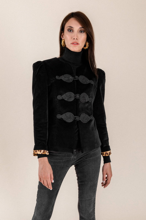 The Coco Jacket - Black & Black Jacket Rosewater House