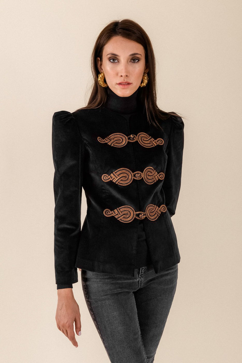 The Coco Jacket - Black & Brown Jacket Rosewater House