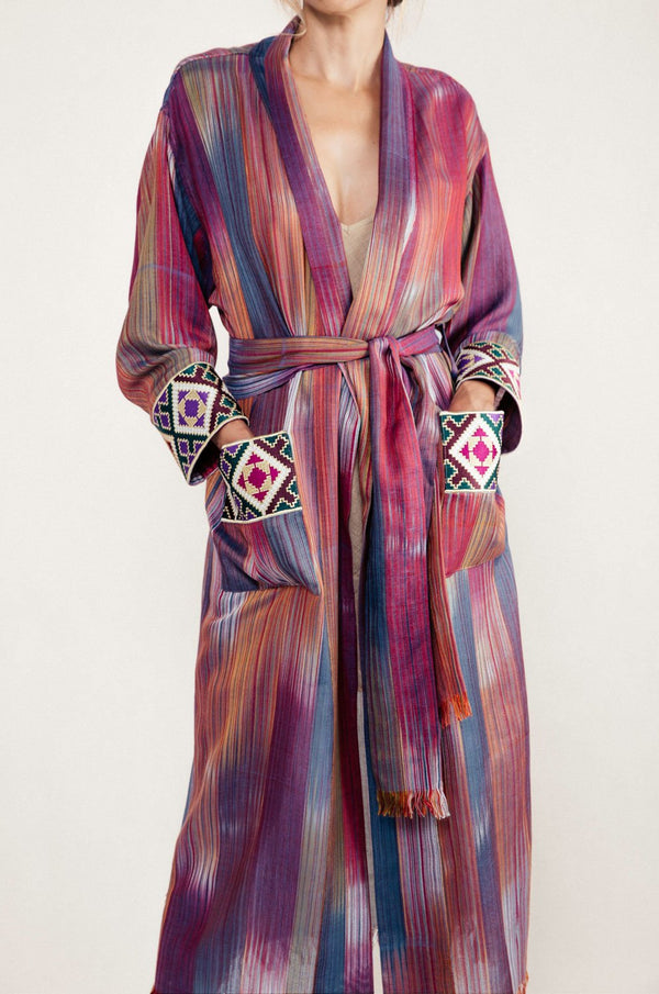 Darai Duster - Hot Pink Robe Rosewater House