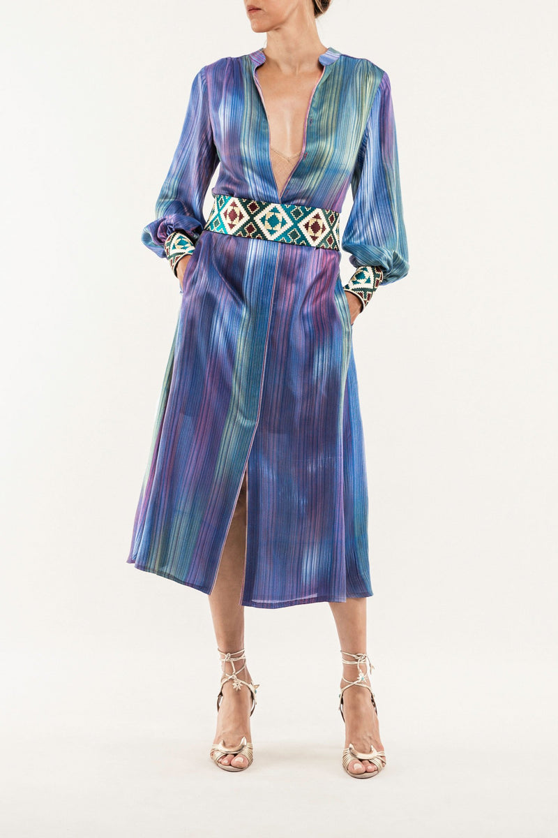 Darai Isfahan Dress - Blue