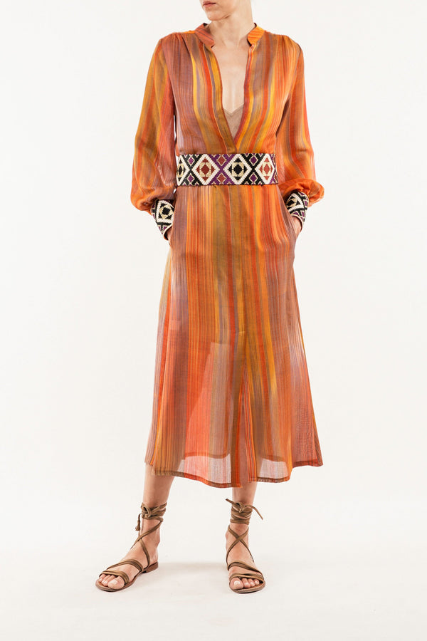 Darai Isfahan Dress - Orange Dress Rosewater House