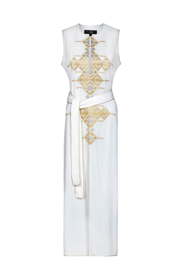 Aftab Dress- White Dress Rosewater House