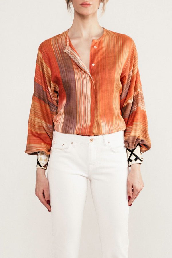 Darai Yar Blouse - Orange Rosewater House