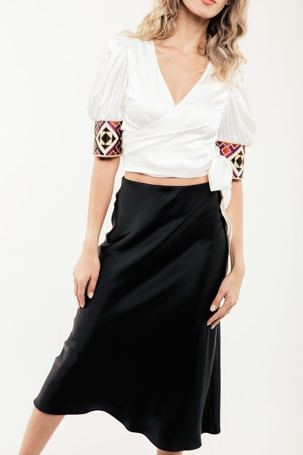 Embroidered Del Blouse - Ivory Tops RoseWaterHouse
