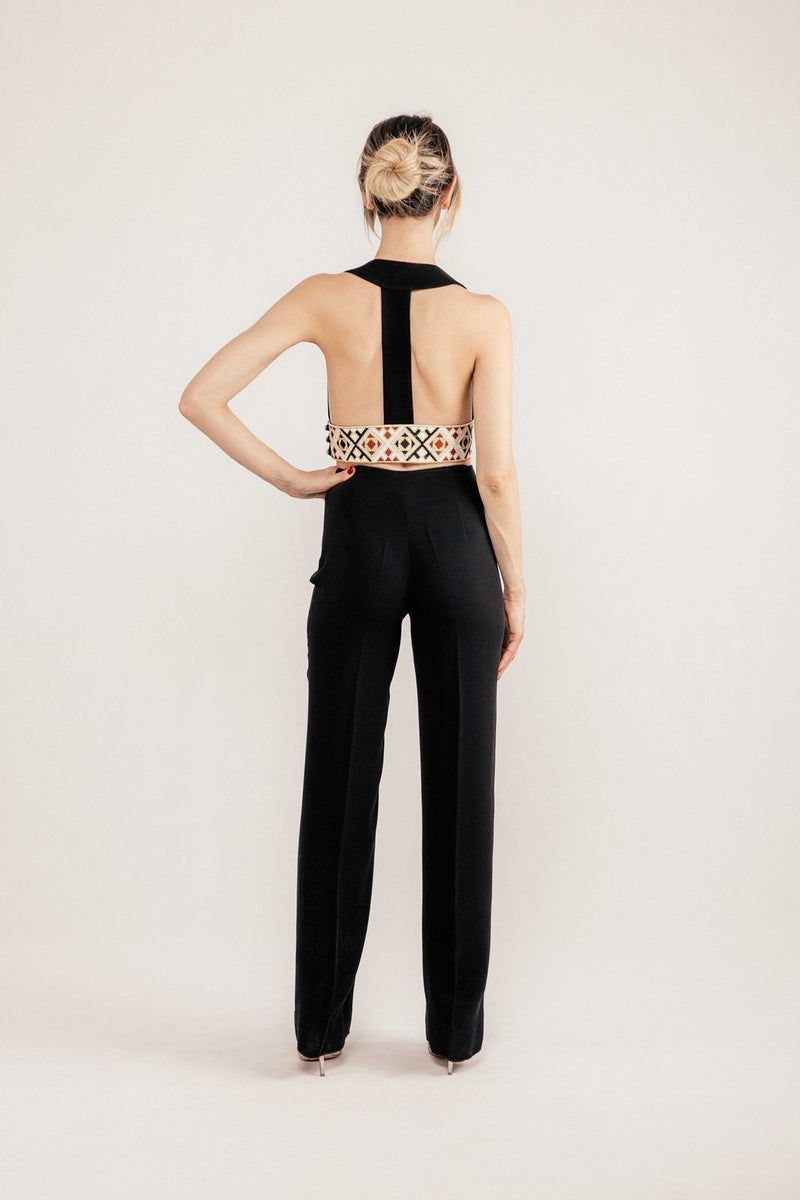 Kaveh Straight Leg Pant - Black