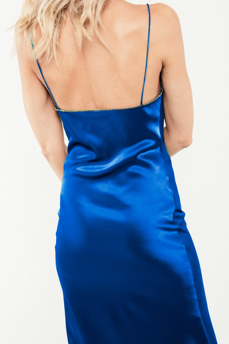 Darya Slip Dress - Cobalt