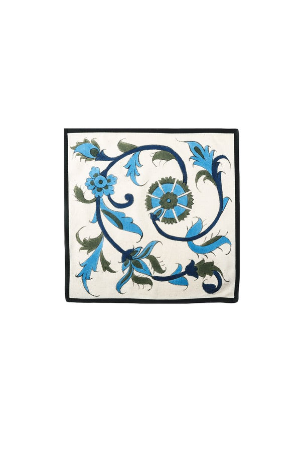 Hand-Painted Isfahan Napkins - Blue & Green Rosewater House