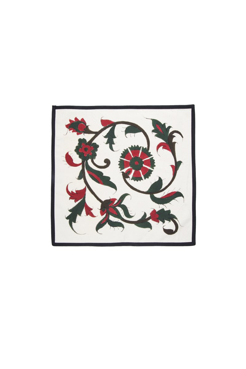Hand-Painted Isfahan napkin - Holiday Combo Rosewater House