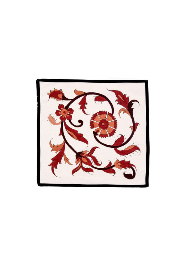 Isfahan Hand Painted Napkins - Red RoseWaterHouse