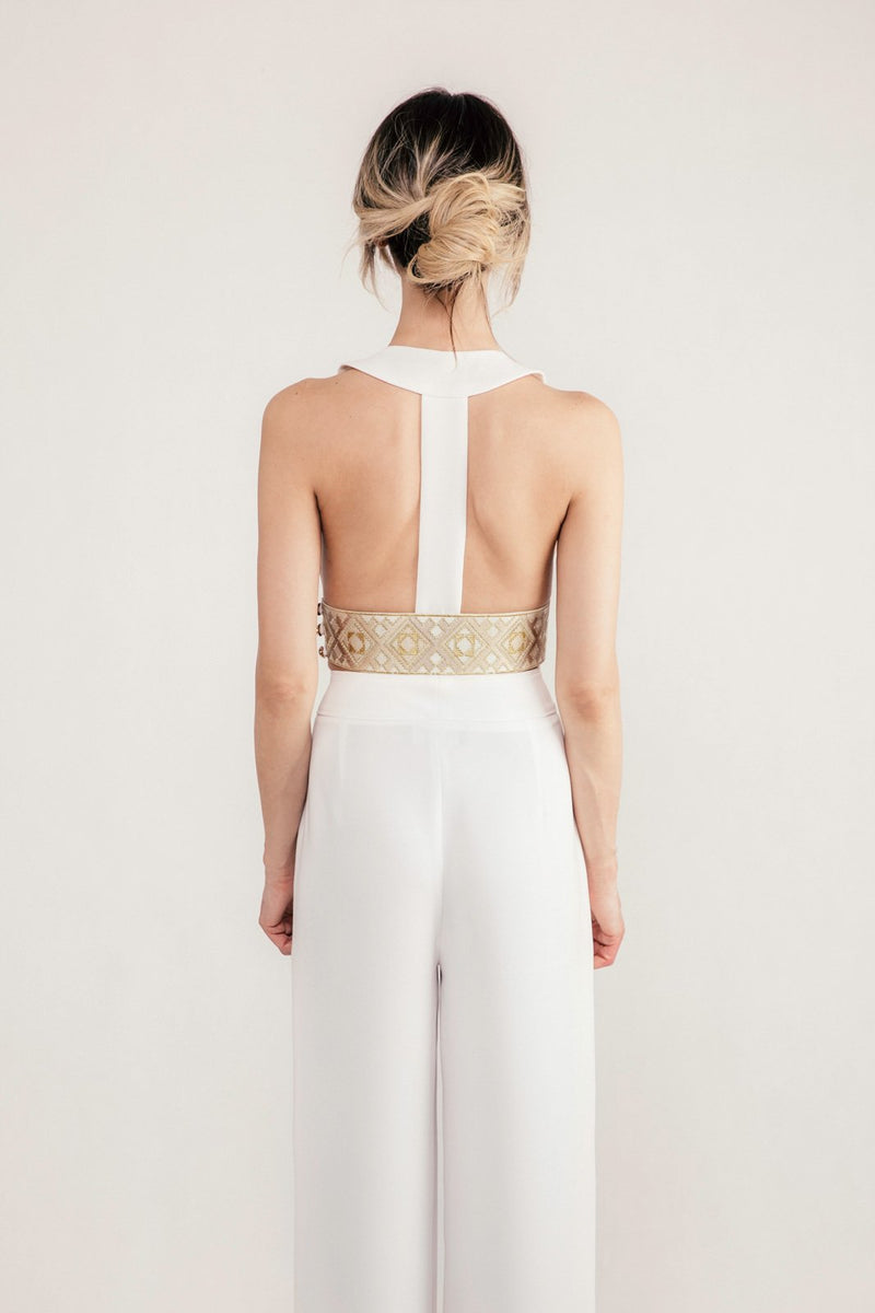 Maneli Crop Top - Ivory