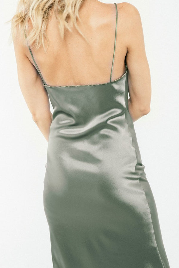 Darya Slip Dress - Khaki