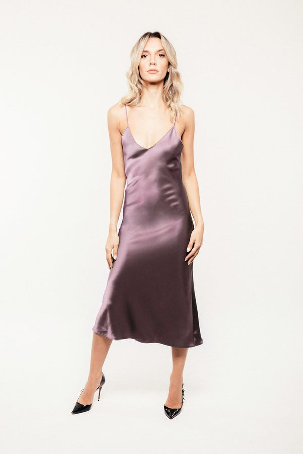 Darya Slip Dress - Light Mauve