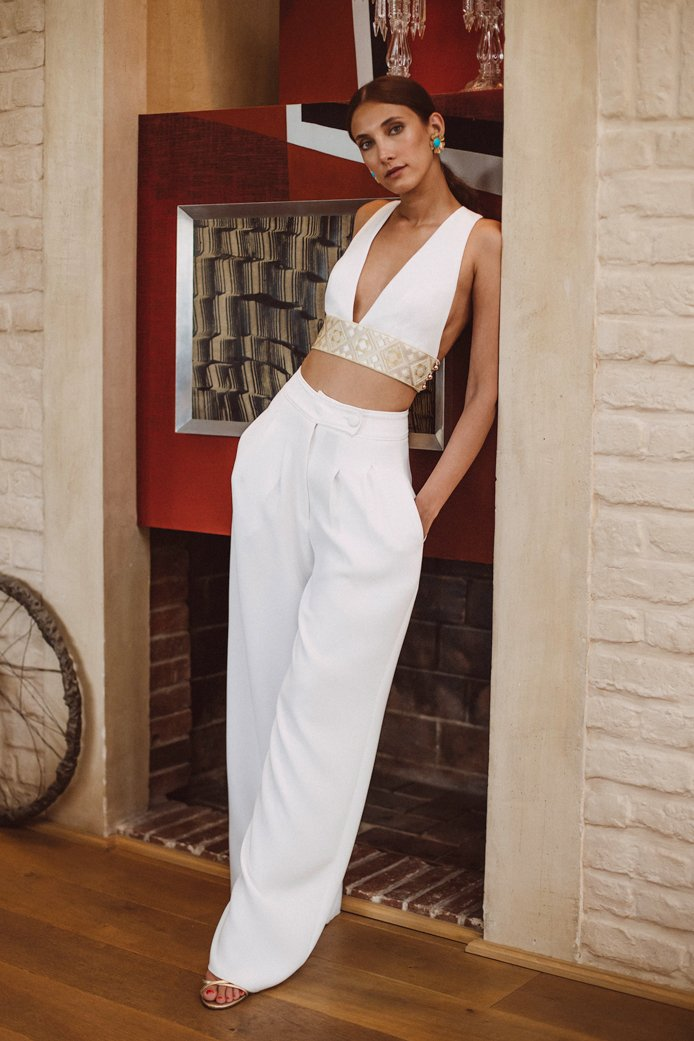 Pillar Pant - Ivory Rosewater House