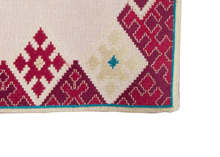 Hand-Embroidered Placemats - Pink & Blue