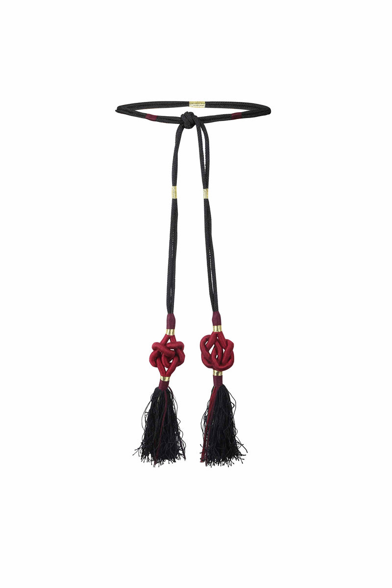 Fringe Tassel Belt - Bordeaux Belt Rosewater House