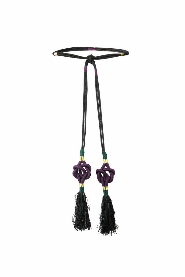 Fringe Tassel belt - Purple Rosewater House