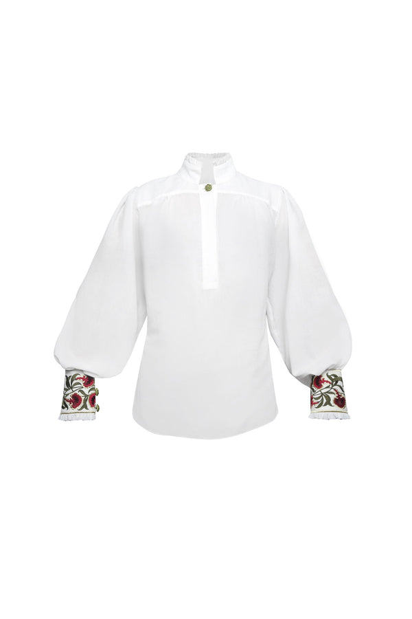 Carnation Blouse - White Rosewater House