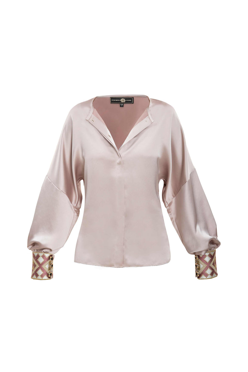 Silk Yar Blouse - Pink Tops RoseWaterHouse