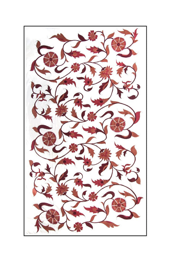 Isfahan Hand Painted Tablecloth - Red RoseWaterHouse