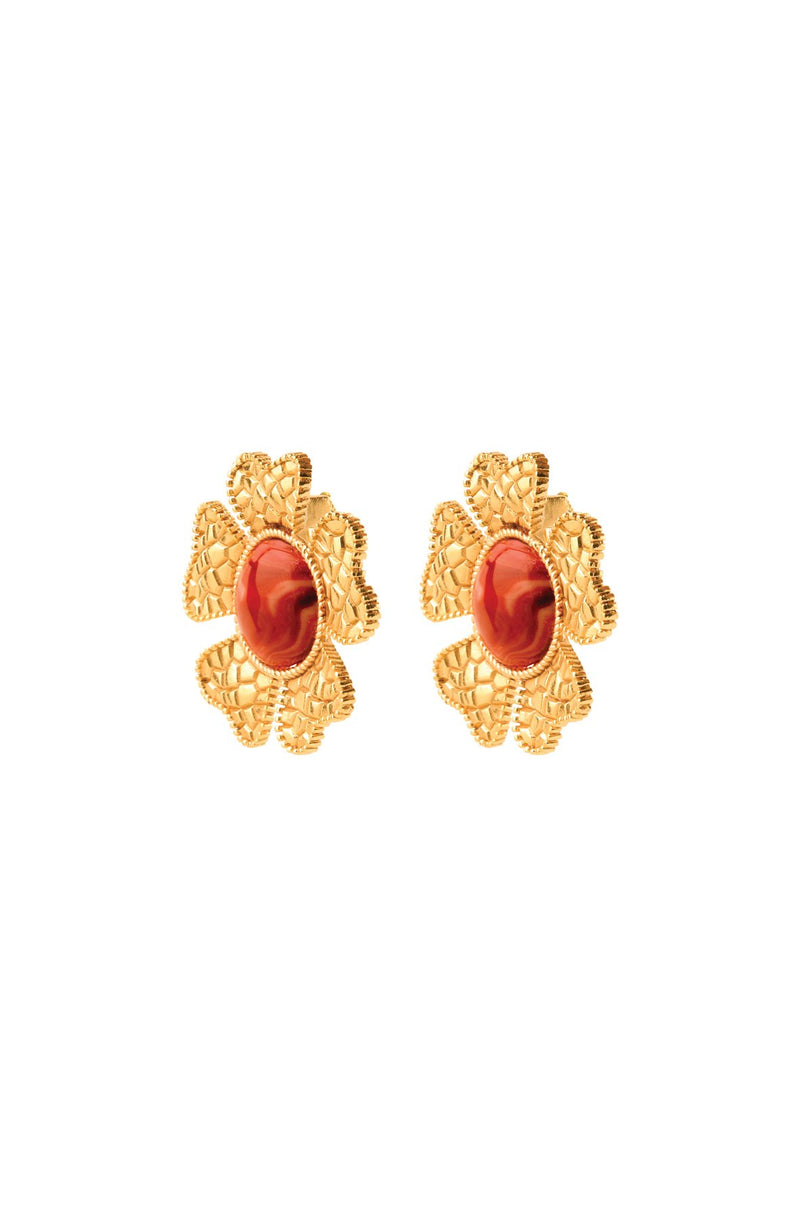 Sogol Earrings - Agate earrings Rosewater House