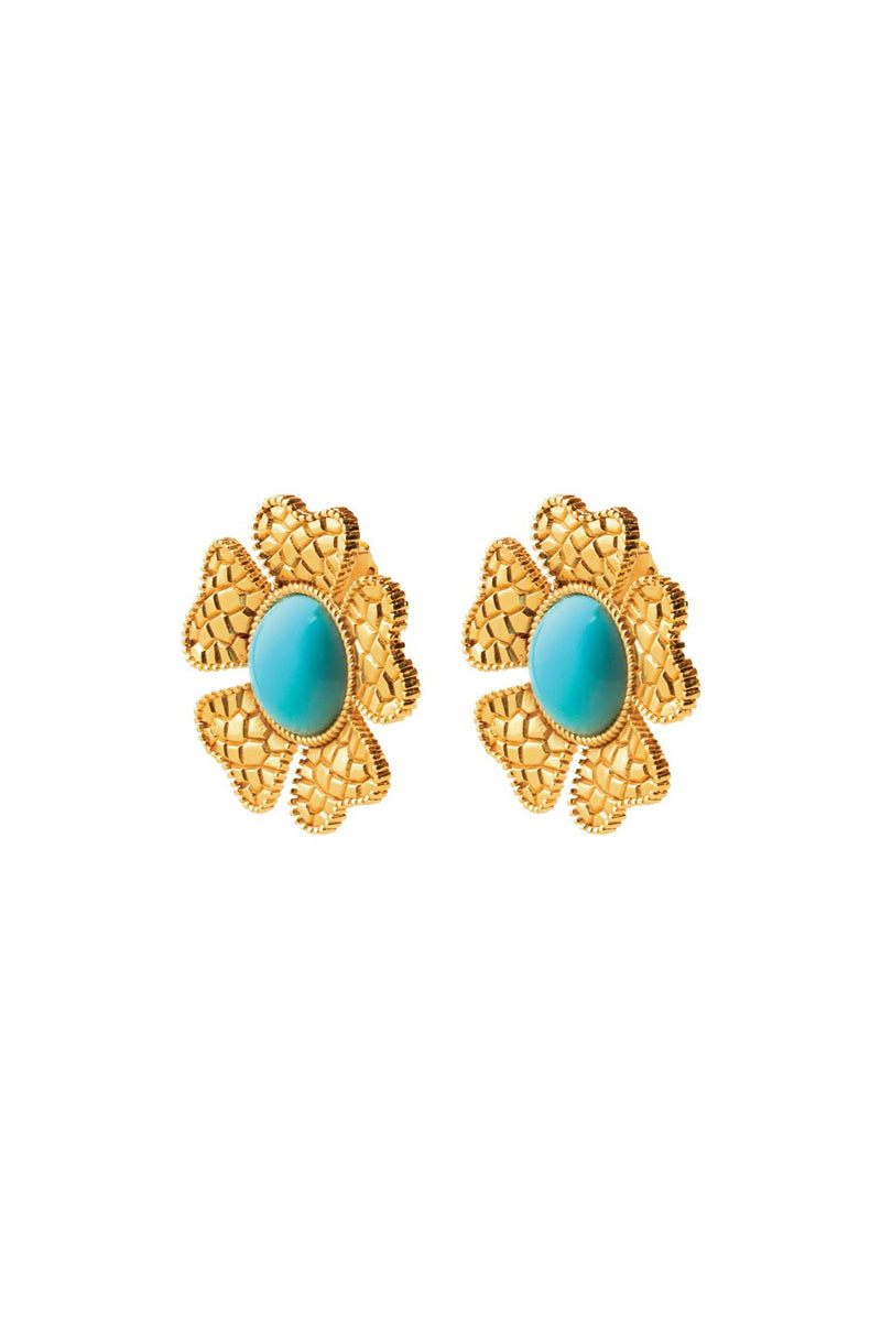 Sogol Earrings - Turquoise earrings Rosewater House
