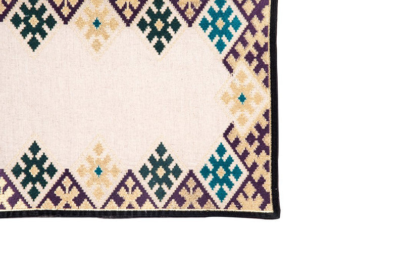 Hand-Embroidered Placemats - Royal