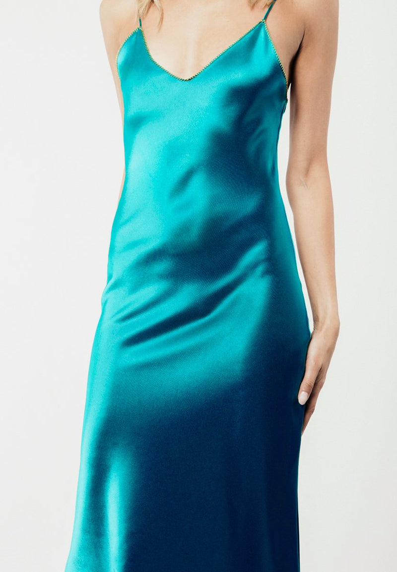 Darya Slip Dress - Turquoise