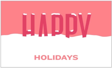 Holiday Themed E-Gift Cards