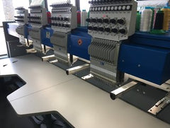 Picture of Custom Built oversized 4 head embroidery machine