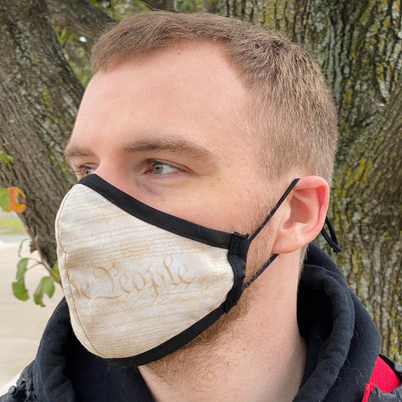 Four Layer Fully Wired Protective Cloth Face Mask - Made in USA - 1776, Adult