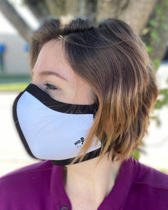 HARD EDGE DESIGN Made in USA Four Layer Cloth Face Mask - Ear Saver Behind the Head Elastic - Adult, Shaped