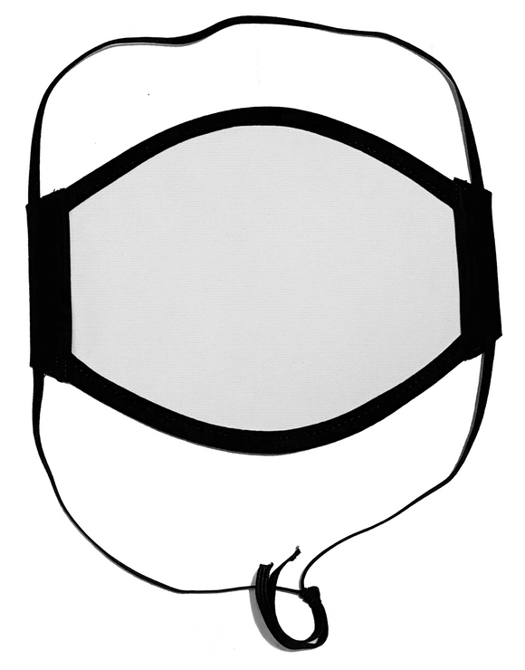 HARD EDGE DESIGN Made in USA Four Layer Cloth Face Mask - Wired Nose - Ear Saver Behind the Head Elastic - Adult, Flat