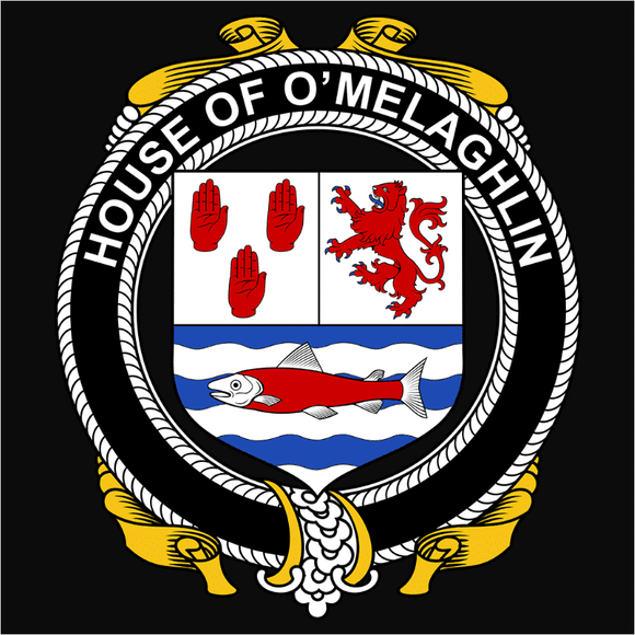 Irish House Heraldry O'Melaghlin - (DSN-15460)